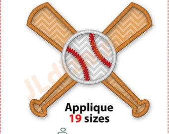 Baseball Applique Design. Baseball embroidery design. Baseball bat embroidery designs. Applique baseball bat. Machine embroidery design