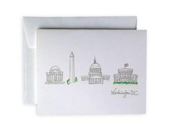 Washington, D.C. Greeting Card or Notecard Set