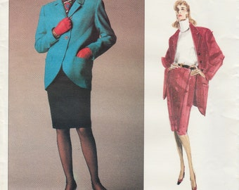 Vogue Paris Original 2131 / Vintage Desigmer Sewing Pattern By Chloe / Jacket Skirt Suit / Size 14 Bust 36