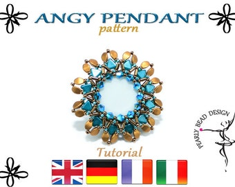 ANGY pendant with Kheops beads pattern tutorial