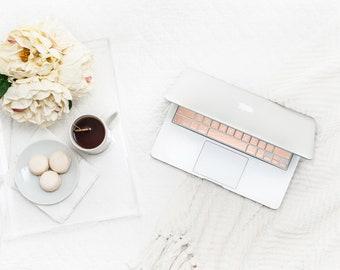 Sparkle Shimmer Glitter Blush Nude Chrome . Keyboard Key . Keycal . Macbook Pro 13 . Macbook Air . Decal . Microsoft Surface