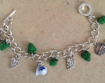Bracelet with Wine and Grapes