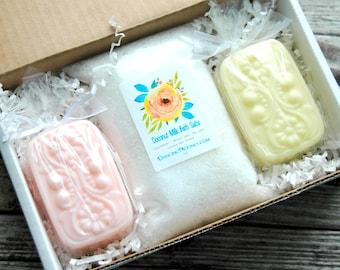 Ginger Peach Gift Set . Best Friend Gift . Cheer Up Gift . Bath Gift Set . Soap Gift Set . Spa Gift Box . Gift for Women Mom Gift for Mom