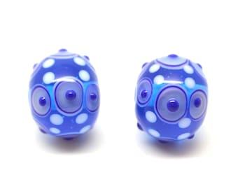 Lampwork glass bead  - earring set -  beads / 2 pieces /pair