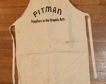 Vintage Pitman Graphic Arts Apron