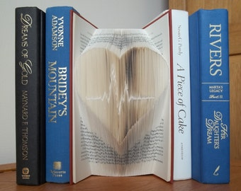 Folded Book Art, Heart Beat, Book Sculpture, Unique Gift, Gift for Doctor,
