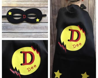 Kids Superhero Costume w mask , Superhero Cape, kids Superhero Cape, Childrens Cape, Custom Superhero Costume,Personalized Kid's Superhero