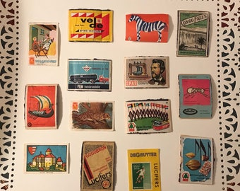 Vintage Matchbox Labels