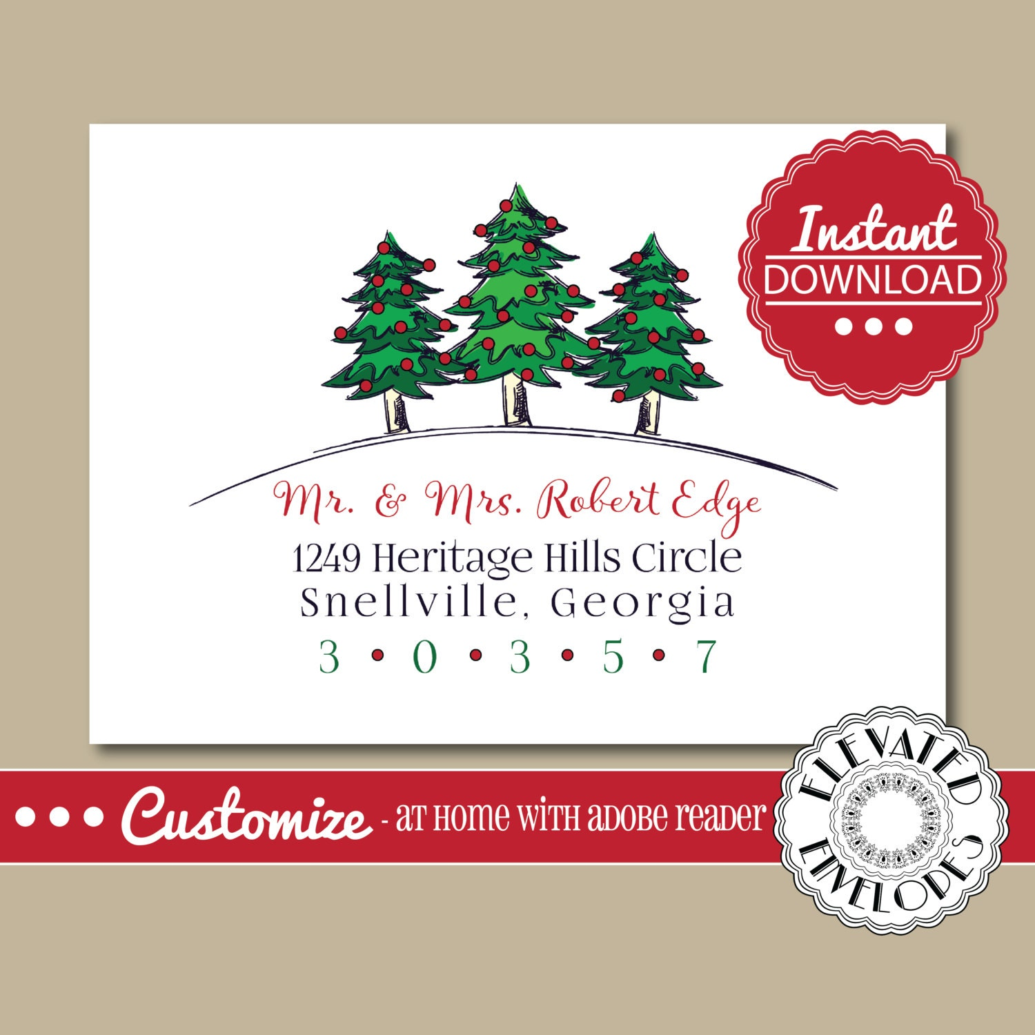 editable christmas envelope templatechristmas envelope