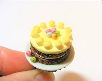 Food Jewelry Simnel Cake Ring, Easter Cake Ring, Miniature Food Ring, Mini Food Jewelry, Kawaii Ring, Easter Jewelry Dollhouse Food Egg Ring