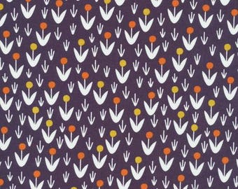 Dottie Blooms Navy - Organic Cotton Poplin- Morning Song Collection (5208.52.00.90)