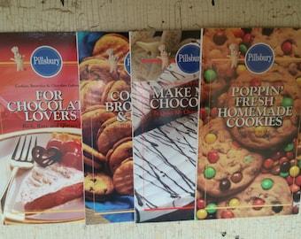 Pillsbury Cookies Brownies & Chocolate Galore! Four Cookbook Set 1993