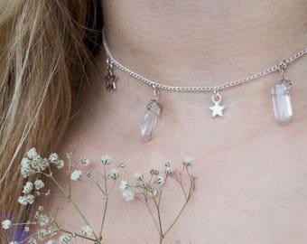 Handmade Crystal Star Necklace