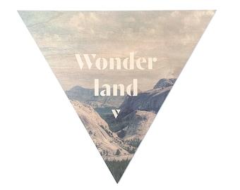 Wonderland - Faunascapes Plywood Print