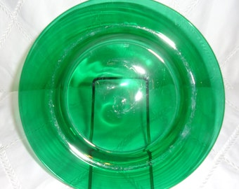 Steuben Emerald Green Glass Plate SIGNED (MARKED) Sale 25% Off