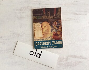 Old 1936 Occident Flour Recipe Booklet