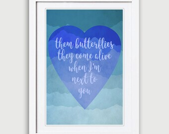 Official Niall Horan This Town Print, Niall Horan This Town Art, This Town Poster, Butterflies Come Alive Print, Niall Horan Poster