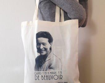 Tote Bag 100% coton écru - Simone de Beauvoir -