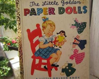 The Little Golden Books Paper Dolls - A Rare Little Golden Book 1950's