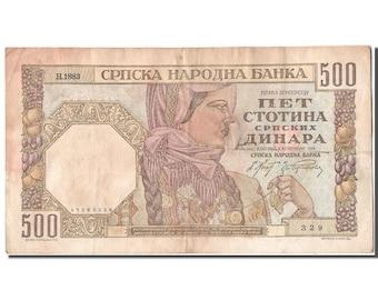 serbia 500 dinara 1941 km #27b 1941-11-01 ef(40-45) h.1883 329