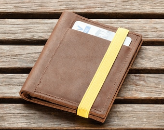 Mens Leather Wallet | minimalist wallet | slim wallet | Gift Ideas For Him