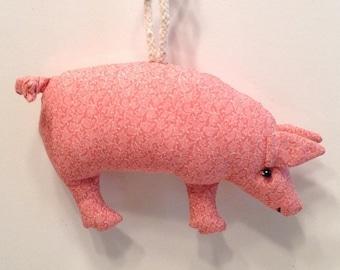 Fabric Pig keychain, ornament, accessory