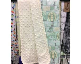 Hot Air Balloon  Crib Blanket - Flannel and Minky Blanket