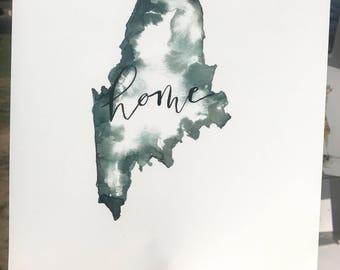 Maine home print!