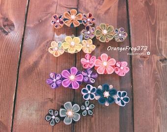 Handmade Tsumami-Flower barrette