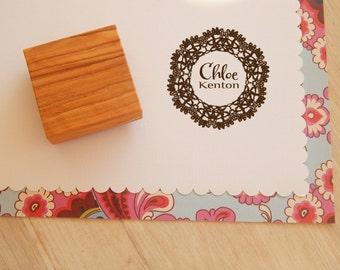 Custom Lace  Olive Wood Stamp