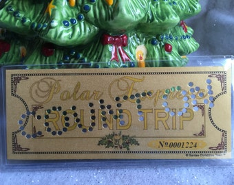 Polar Express 'COUNT ON' Hole Punched Round Trip Keepsake Ticket