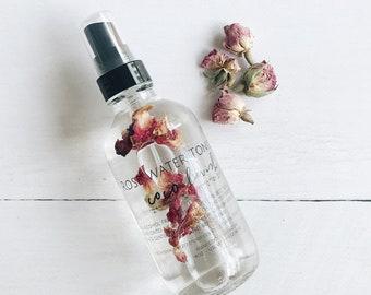 ROSE WATER TONIC // skincare // toner  // roses // essential oils // toner // face wash // clear skin // vegan skincare  //
