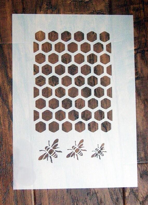 Bienen Waben Schablone Maske wiederverwendbare PP Blatt für