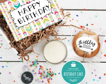Mini Happy Birthday Gift Box - Send a Birthday Gift | Birthday in a Box | Friend Gift | Coworker Gift | Birthday Card