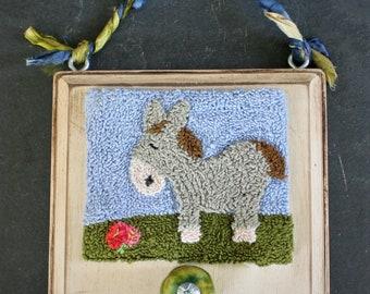 Happy Donkey Punchneedle Embroidery Pattern