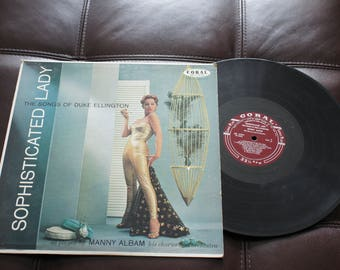 Vintage Gramophone record Sophisticated Lady - The Songs Of Duke Ellington 1958 Coral CRL 57231 MG 6308 33 1/3 RPM