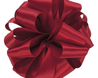 """Satin Ribbon, 2 1/4"""" wide, Scarlet Red Double Face - TEN YARD ROLL - Offray """"Scarlet"""" Wedding, Christmas, Valentine Double Sided Satin"""