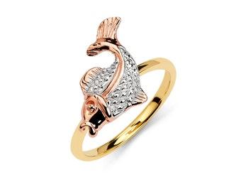 14K Tricolor Fish Ring, Fish Ring, Gold Ring, Fish Jewelry, Fish, Gold Jewelry, Nautical Jewelry, Nautical Ring, Gold Fish, Tricolor Fish
