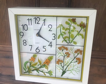 Herb Wall Hanging Clock