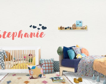 Name / Wall Vinyl Decal Sticker / Nursery Baby Toddler Kid Children Room / Decor Decoration / Gift Present / Personalized Custom