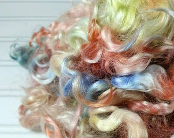 Kid Mohair Locks 250g, Hand Dyed Locks,  Indi Dyed Locks, Curly Locks, Ready To Ship.