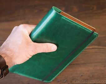 Leuchtturm 1917 Medium (A5) Hardcover Notebook cover - Horween Chromexcel, bright green