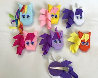 My Little Pony hair clips