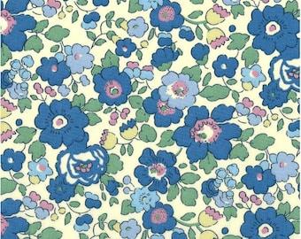 Liberty Blue Green Liberty Betsy color pattern print fabric