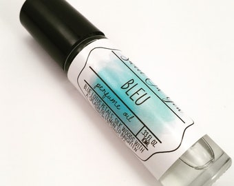 Bleu, Roll On Perfume, Aromatherapy, Perfume Oil, Fragrance, Scented Body Oil, Roll On Perfume