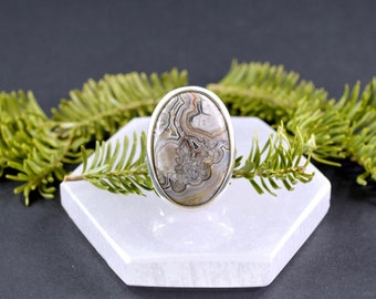 Crystalized Crazy Lace Agate Ring // Agate Jewelry // Crazy Lace Agate Jewelry // Sterling Silver // Village Silversmith