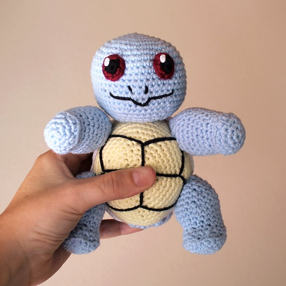 Squirtle - Pokemon. Amigurumi Toy, Blue Animal Toy, Geek Crochet, Cute Children Gift, DIY, Crafts, Crochet Doll, Made to Order, Art Crafts