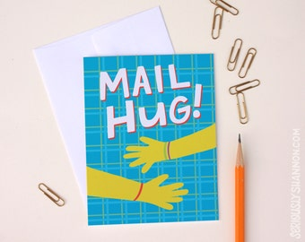 Best friend card, Encouragement card, Friendship card, Greeting Card, Mail Hug, A2 greeting card