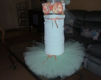 Birthday Ariel Mermaid Costume Flower Girl Tutu Dress