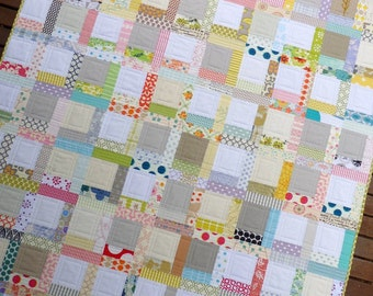 Tiffany Quilt Pattern (PDF file)   A Low Volume Patchwork Quilt Pattern